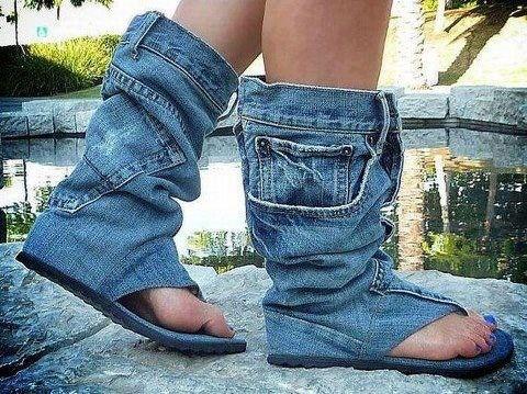 jeanpant-skoene