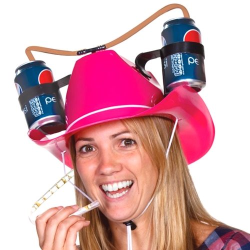 Pink-Cowgirl-Beer-Hat-1